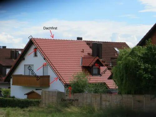 Der Ortgang bezeichnet den seitlichen Abschluss der Dachfläche